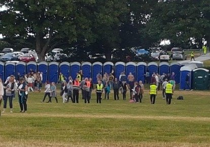 150 portable toilets for Bryan Adams & Little Mix concerts