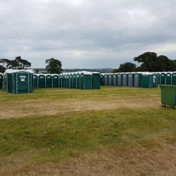 150 portable toilets used for concerts in Bath & Bristol