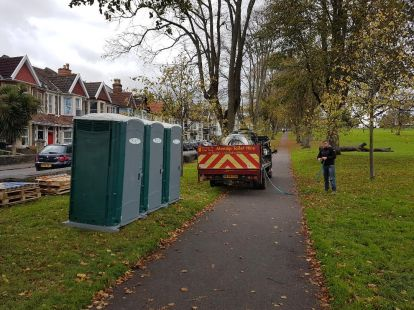 Building Site Portable Toilet Hire Bristol
